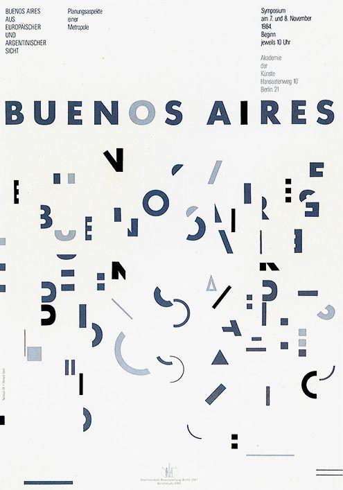 Bernard Stein. Buenos Aires, 1984, exhibition poster for Akademie der Künste. All rights reserved.