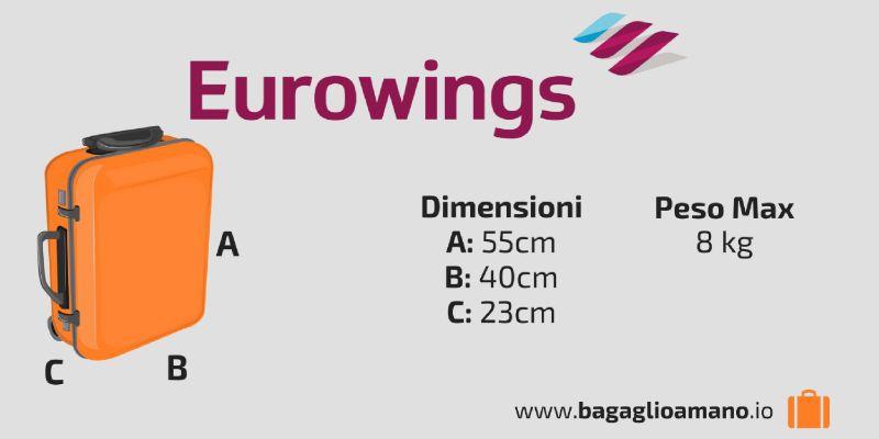Bagaglio viaggio A Al Guida Mano EurowingsgermanwingsIn l1JFKcT3