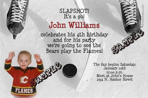 Hockey Birthday Invitations Get These Invitations RIGHT NOW - Free birthday invitation templates hockey