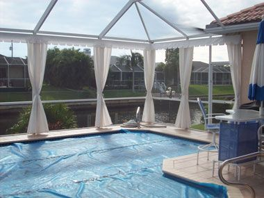 Pool Privacy Curtains open or closedour curtains are absolutely beautiful and