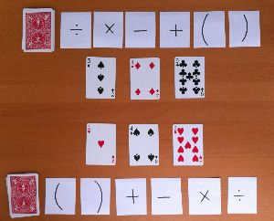 Order of Operations War With Just A Deck of Cards | math and