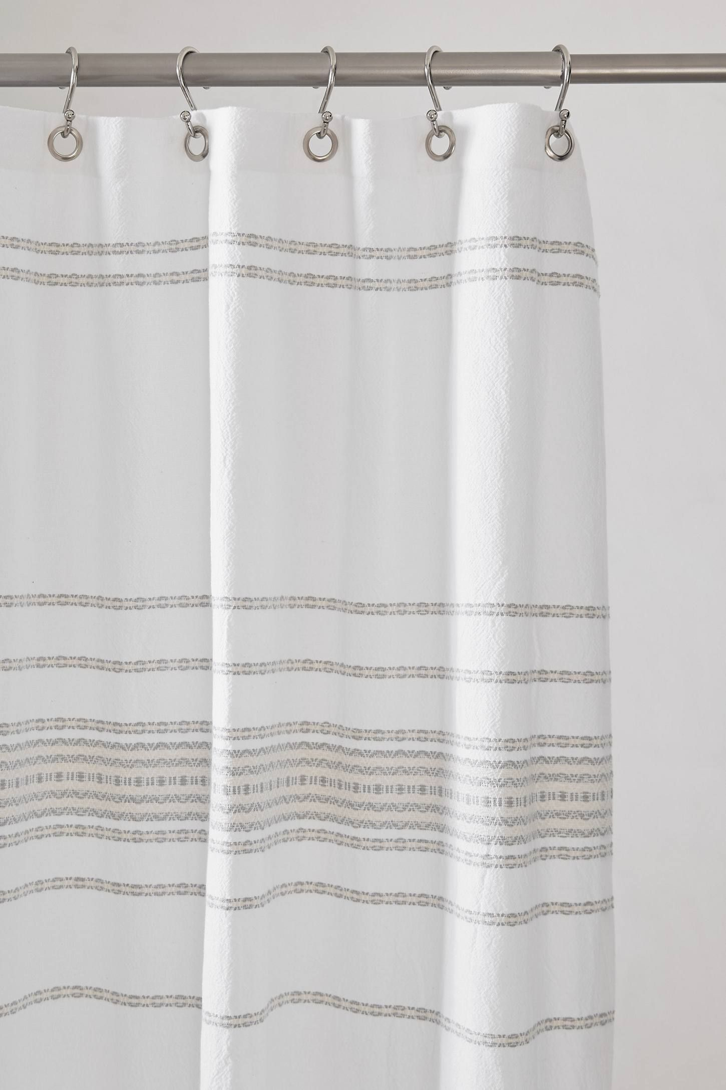 Coyuchi Rippled Stripe Organic Shower Curtain Anthropologie