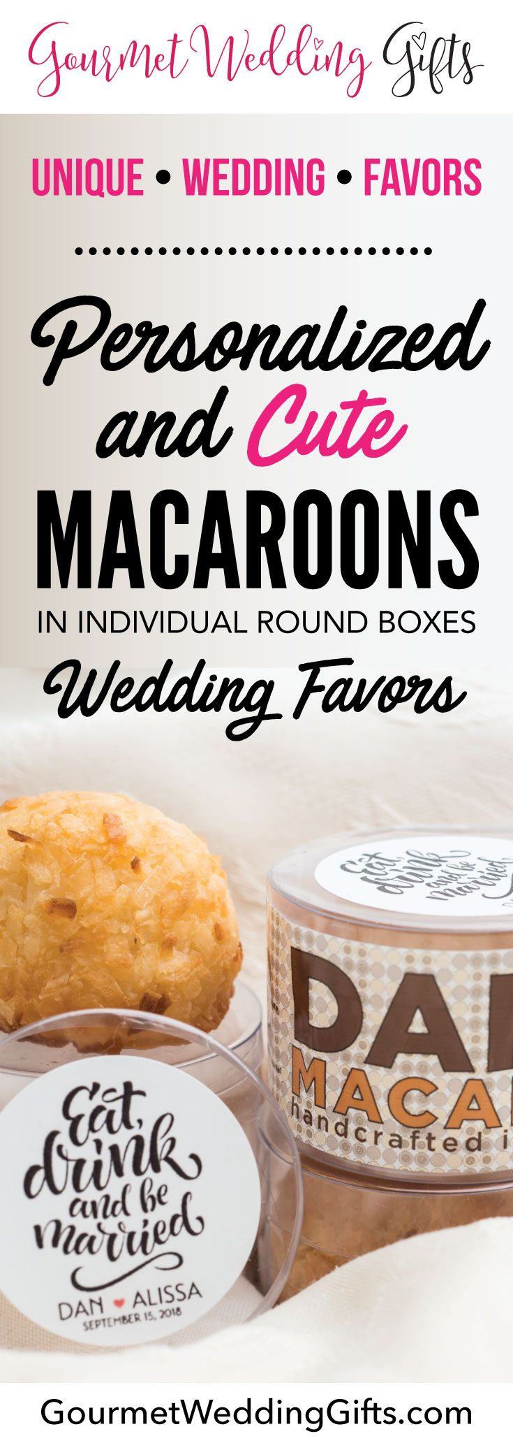 Personalized Macaroon Gift Box | Macaroons, Cheap wedding gifts and ...