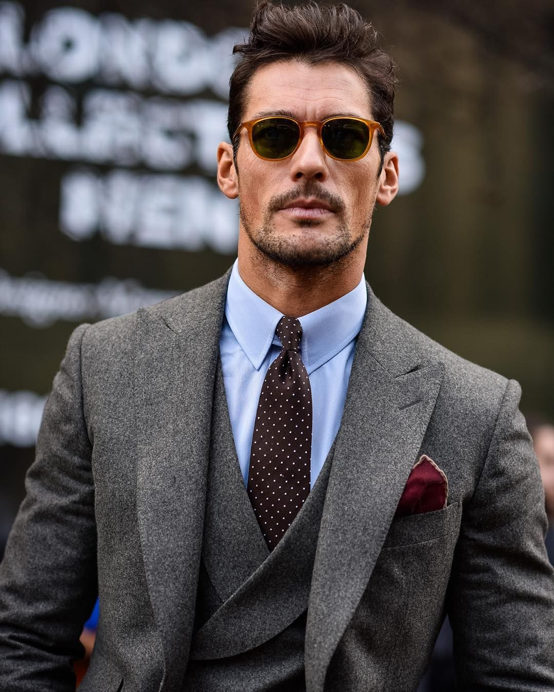 """""""@davidgandy_official at London Collections Men F/W 2016"""""""