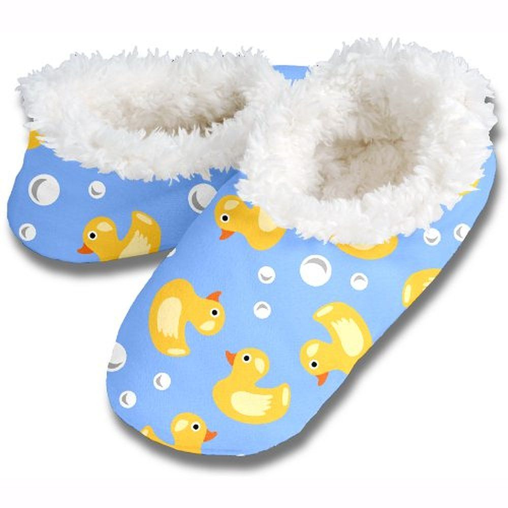 Snoozies rubber ducky fleece lined footies slippers pinterest