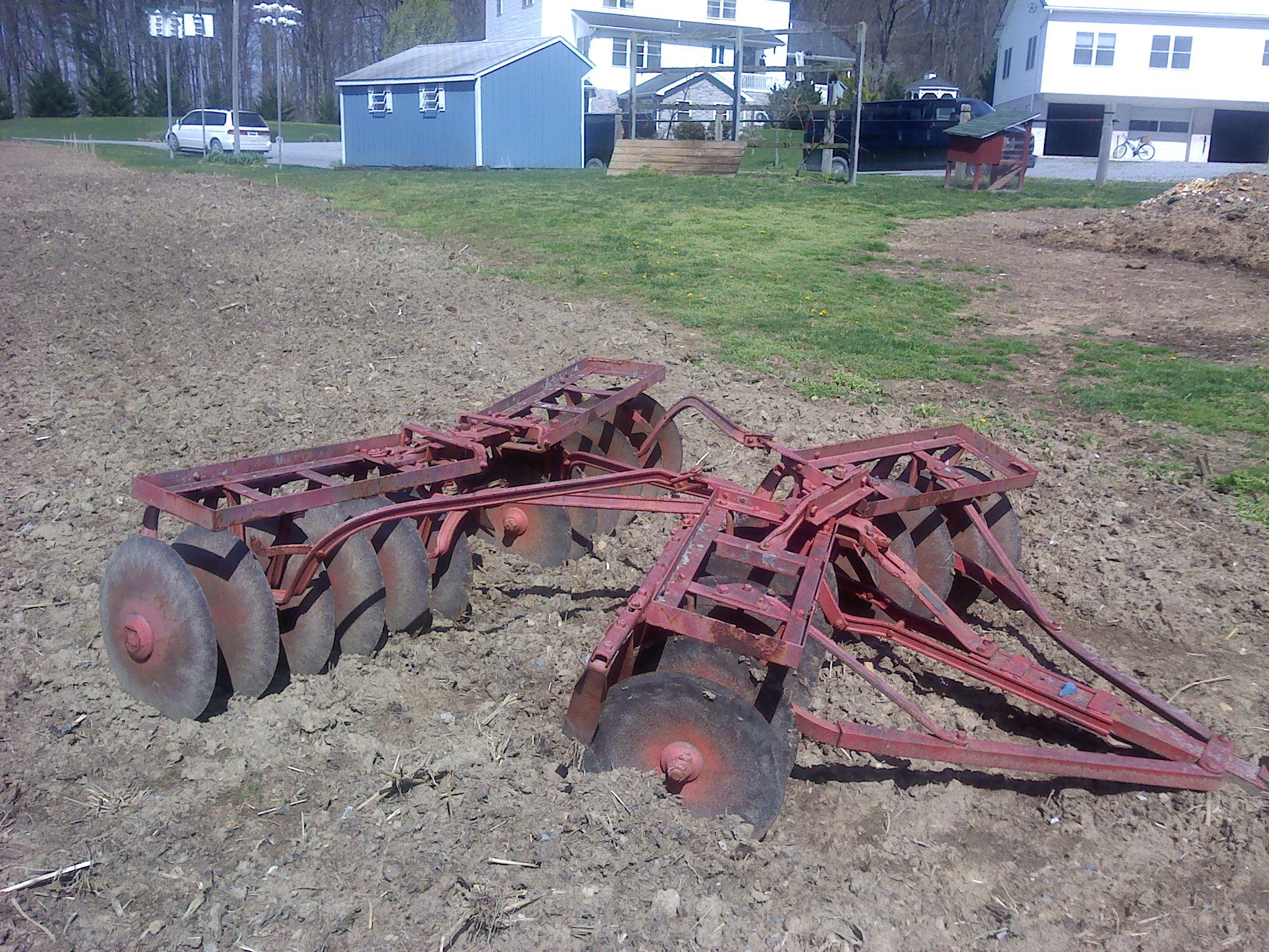 disc harrow - used one like this behind a Ford 8N many times