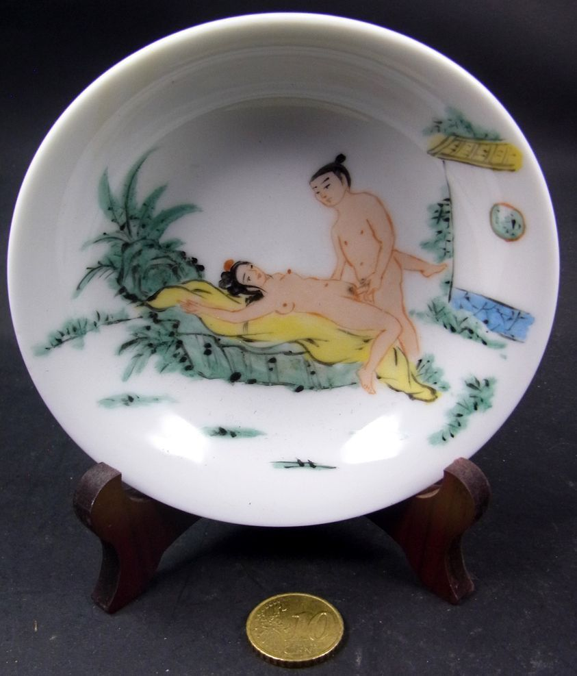Perfect Teller Schlchen Schale Kamasutra Erotik China Feines Porzellan Handbemalt With