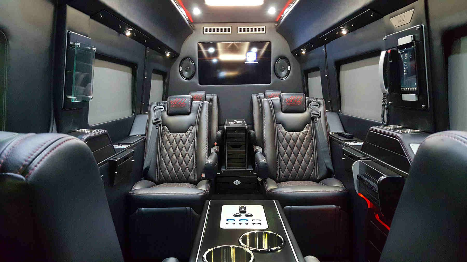 Nick Saban Pimps Up Mercedes Benz Sprinter Interior