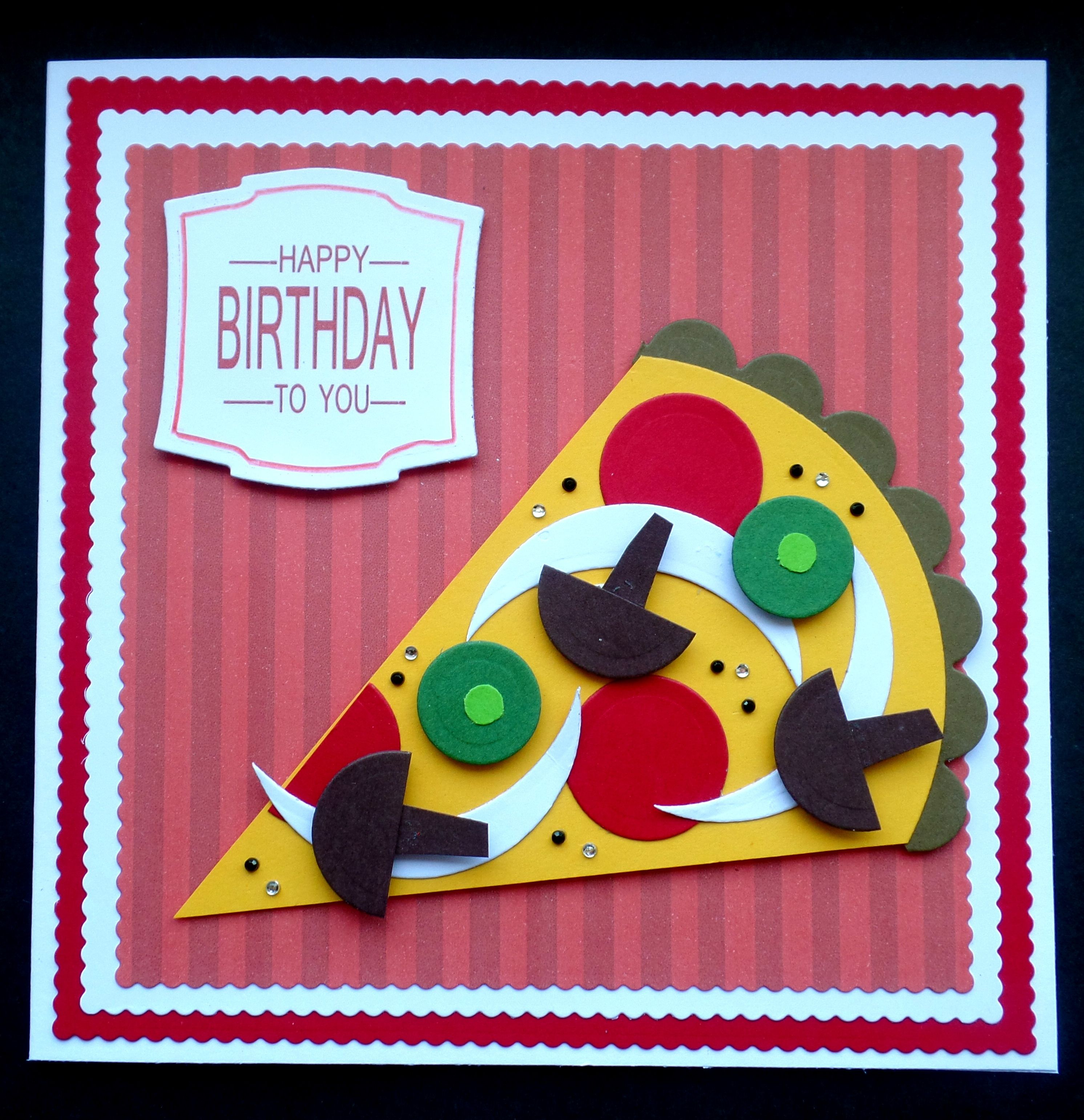 S041 Hand Made Birthday Card Using Various Circle Dies Men Cards