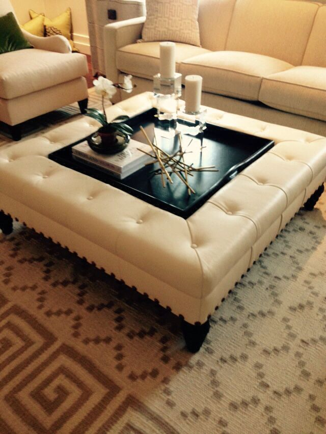 Groovy 48 Sq Ottoman With Tray Inset Furniture Table Home Decor Cjindustries Chair Design For Home Cjindustriesco