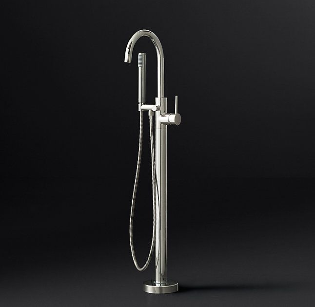 RH's Spritz Lever-Handle Floor-Mount Tub Fill:Our Spritz collection, sleek and…