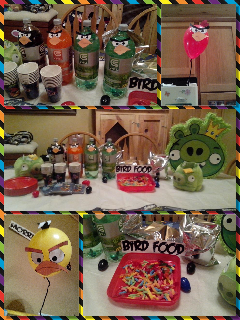 Decor from Morris's 8th b-day.  Angry Birds
