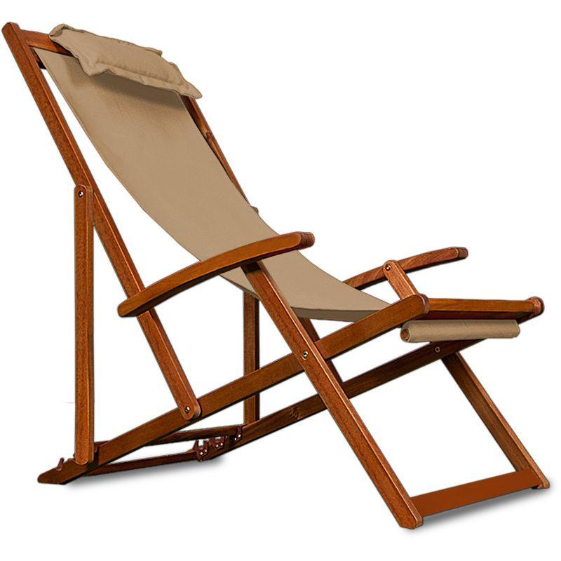 Wooden Folding Garden Deck Chair Made Of Acacia Hardwood Colour Beige Cream 4250525303414 Garden And Out Sun Lounger Chair Relaxing Chair Yard Furniture