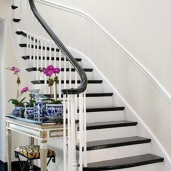 White And Gold French Console Table Curved Staircasestaircase