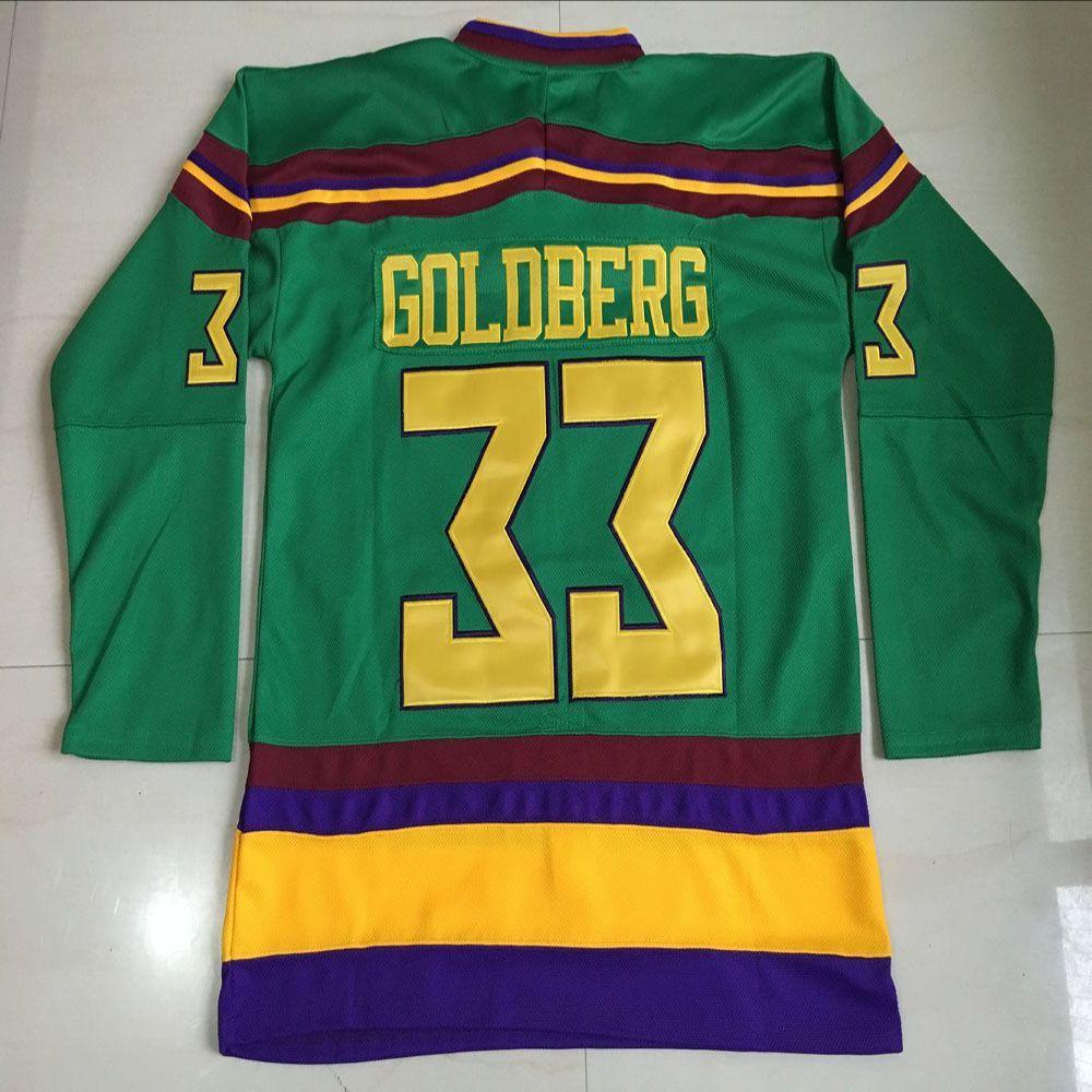 1996 greg goldberg jersey anaheim mighty ducks movie 33