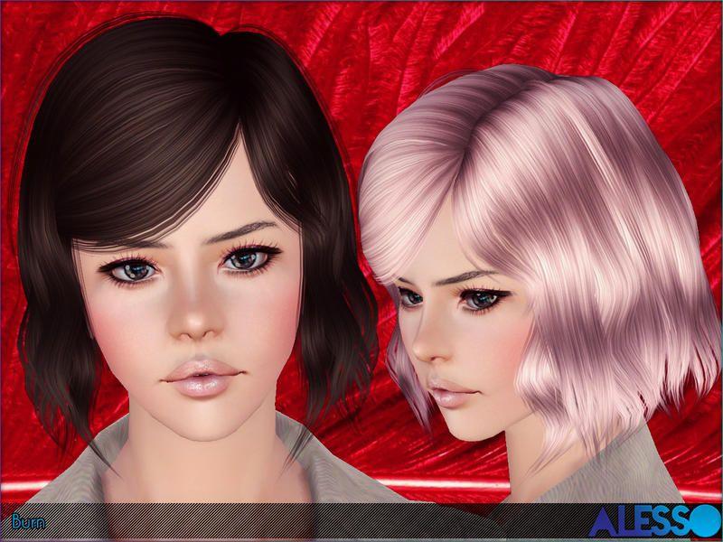 Alesso Burn Hair Coiffure Femme (Sims 3) Sims 3