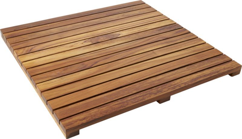 Lateral Teak Natural Bath Mat 21 75 X23 Reviews With Images