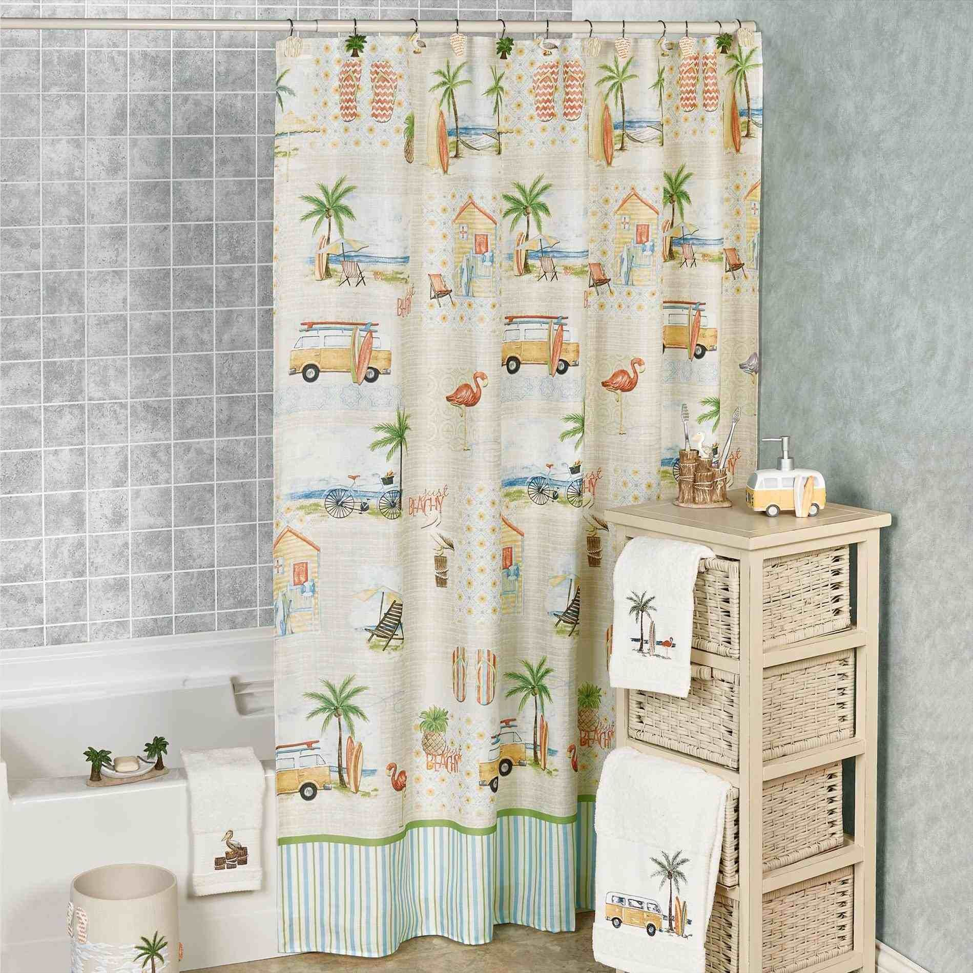 New Post Beach Themed Bathroom Shower Curtains