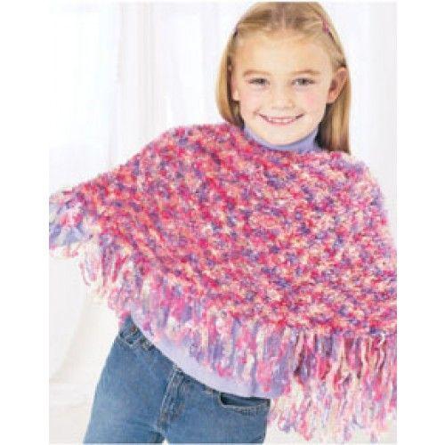 Free Childs Poncho Knit Pattern Loom Knitting Pinterest Knit