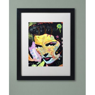"""Trademark Art """"Katharine Hepburn"""" by Dean Russo Matted Framed Painting Print Size: 20"""" H x 16"""" W x 0.5"""" D"""