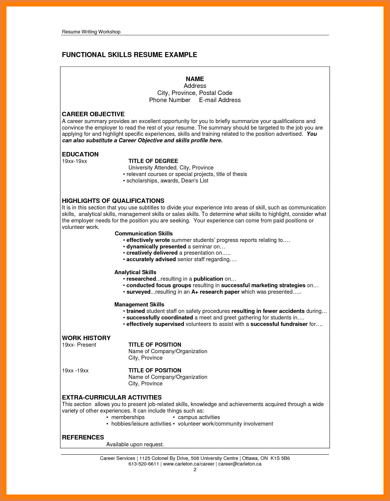 Summary For Resume Example Summary Qualifications Resume Examples Retail Skills Functional