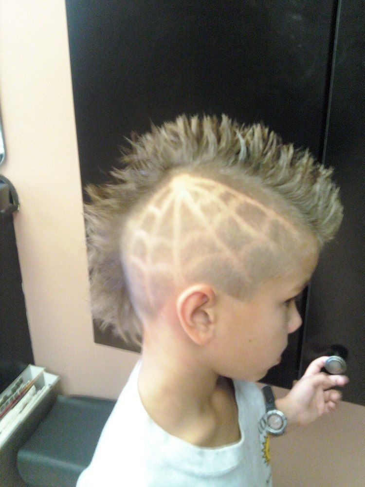 Mohawk With Web One Of The Specialty Kids Cuts Available By