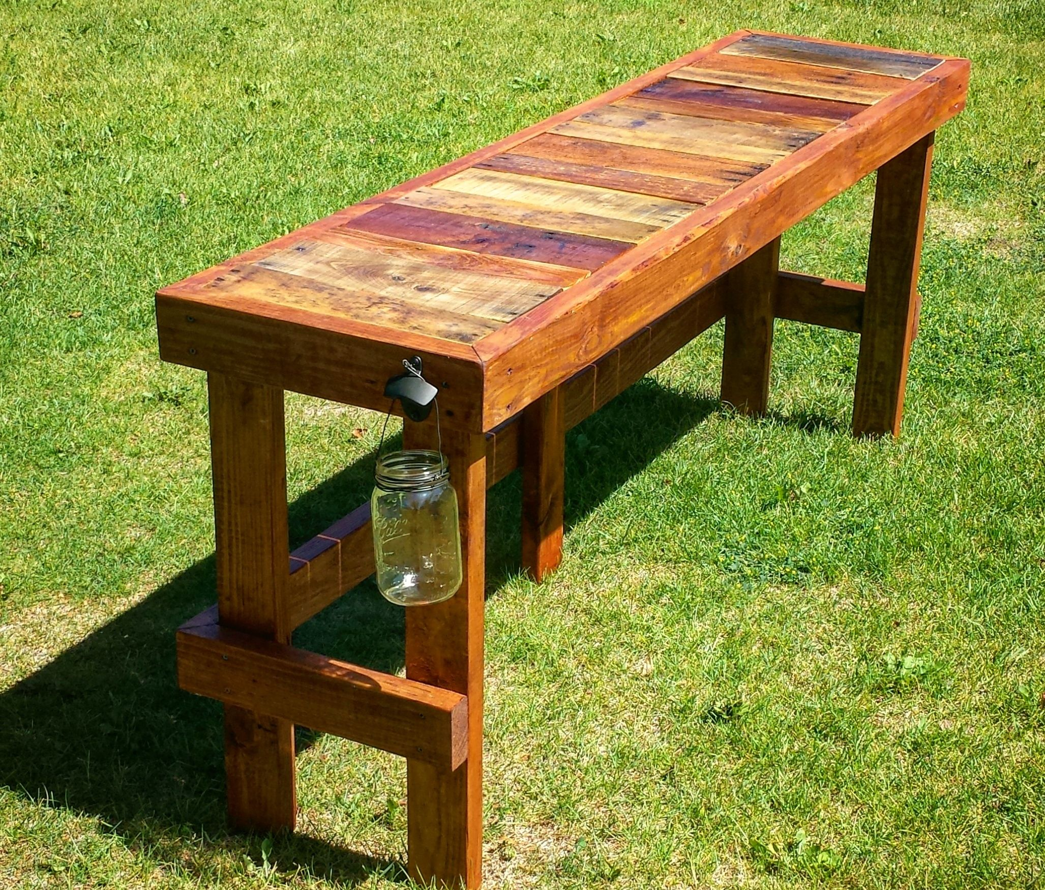 Grande Table Bar Pallet Wood Top Bar Outdoor Lounge Wood Pallets