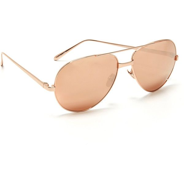 3ae75bc31a Linda Farrow Luxe 24k Rose Gold Sunglasses ( 1