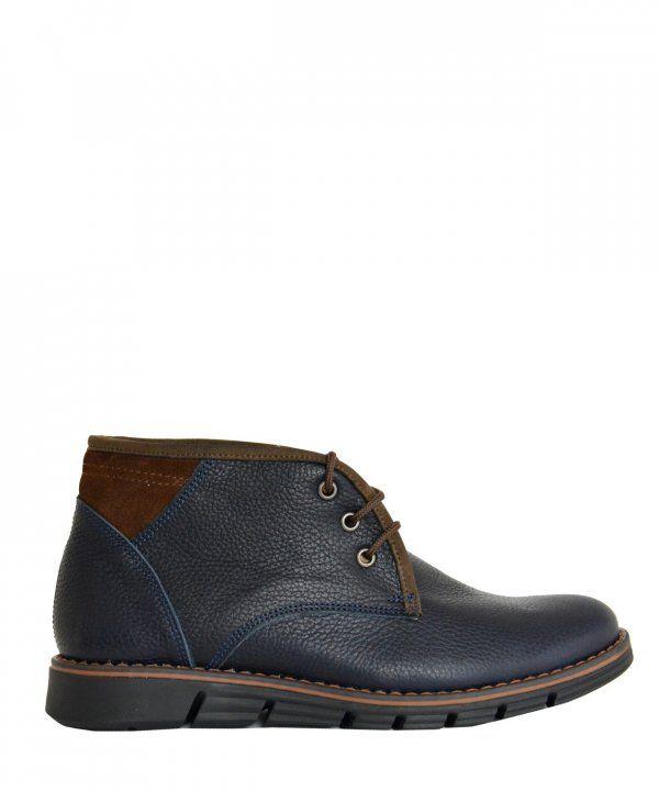 Ανδρικά δερμάτινα μποτάκια αστραγάλου Nice Step μπλε 771R  ανδρικάμποτάκια   μοδάτα  ρούχα  παπούτσια d41416a054f