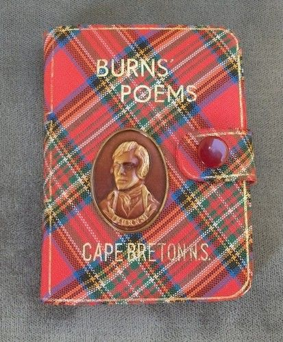 Vintage Robert Burns' Poems Miniature Book with Clasp Tartan Cover