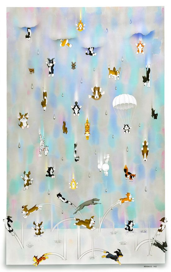 Cats And Dogs Raining Cats And Dogs Dad Art Art For Kids
