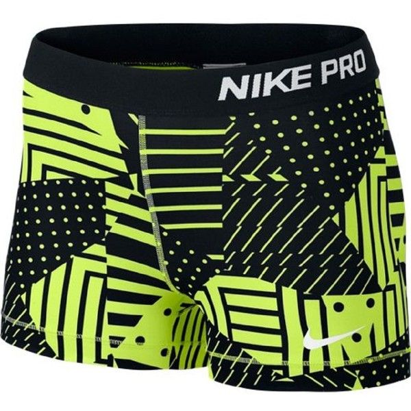 "Nike Pro 3"" Compression Shorts ($40) ❤ liked on Polyvore featuring shorts, sport and nike"