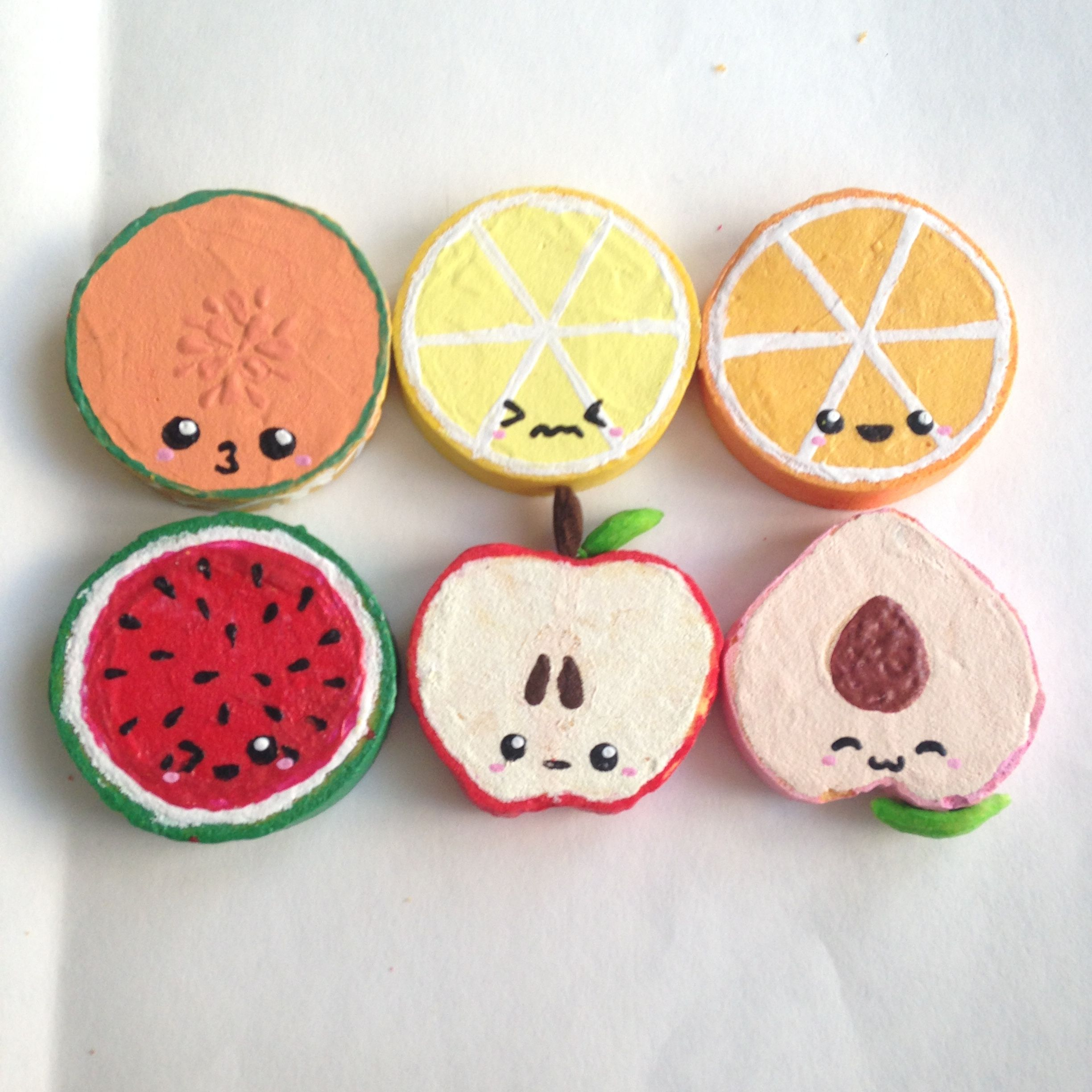 Squishy Bun Diy : Homemade Fruit Flatback Squishy Set Squishys Pinterest Homemade, Squishies and Kawaii