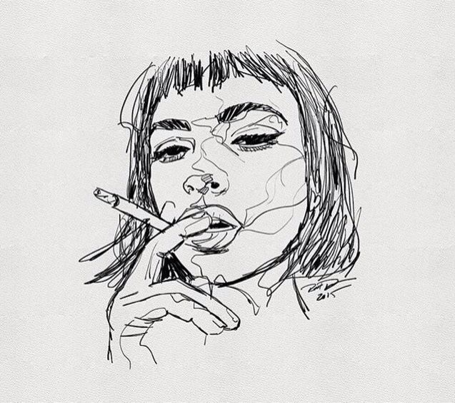 Pinterest chestnutrd pinteres drawing ink pen continuous line sketch drawing portrait ccuart Image collections