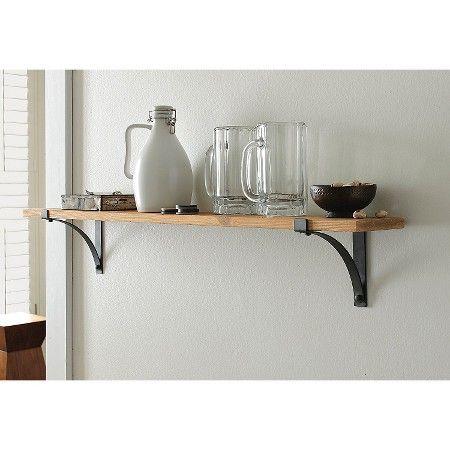 """Floating Shelves Target Threshold™ Natural Wood Shelf With Brackets  36""""  Target"""