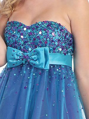 Sparkling Bodice with Overlay Short Prom Dress - Short / Mini Prom Dresses