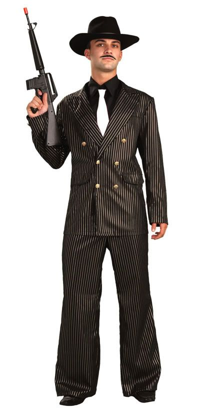 980cf115866c 20s Gangster Fashion for Men | 1920s Roaring 20s Gangster Gold Halloween  Costume 20s Suit Adult 64036 .