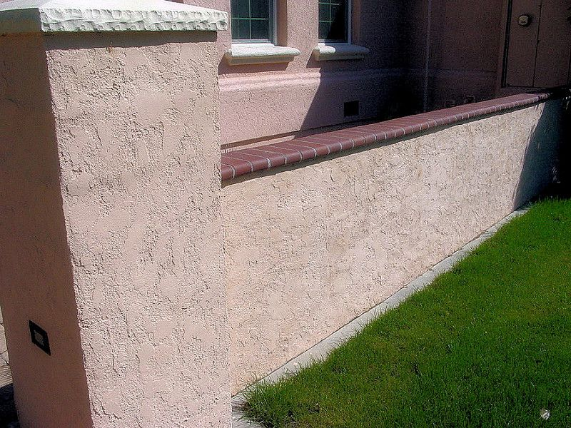 Block Wall Column With Stucco Brick Cap Solano County Yolo County California A Townsend C Cinder Block Walls Concrete Block Walls Concrete Blocks