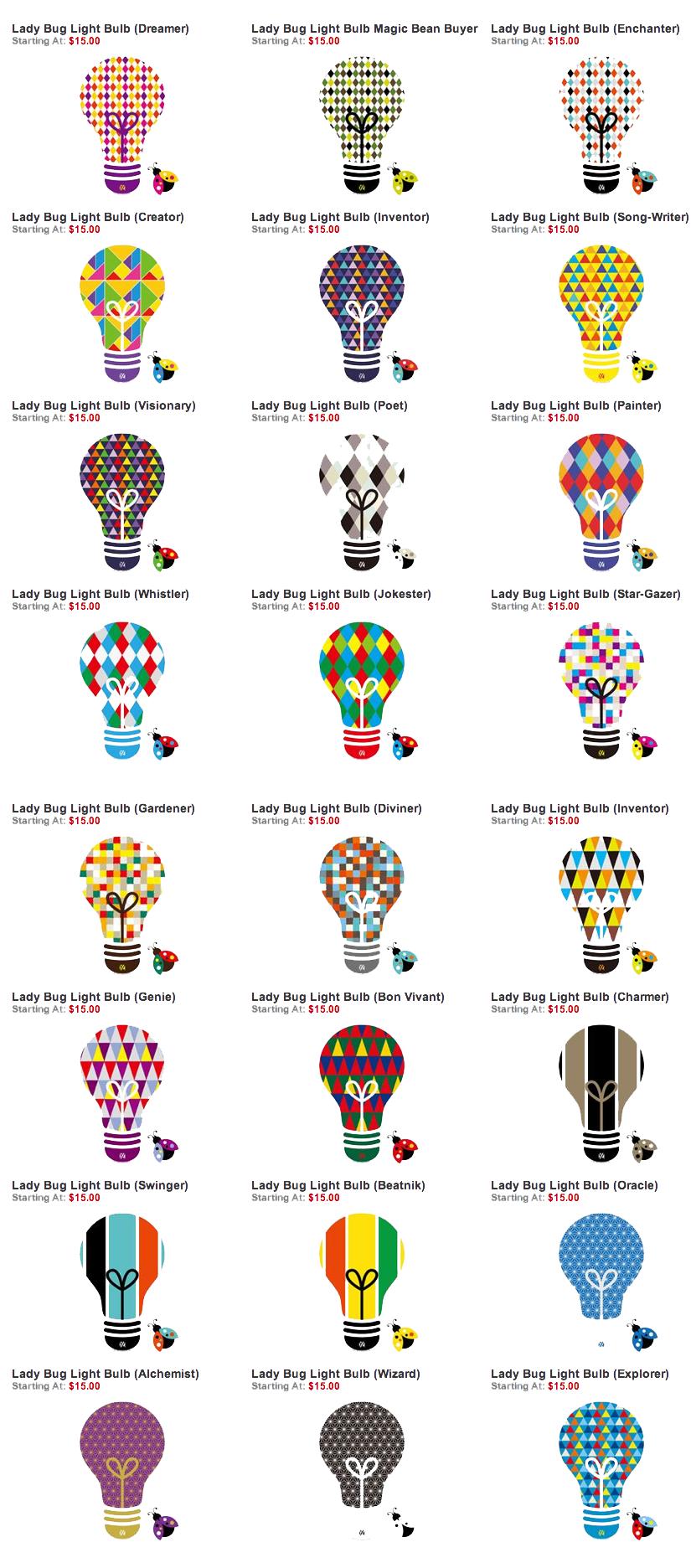 Option 2 pattern inside bulb vs surrounding