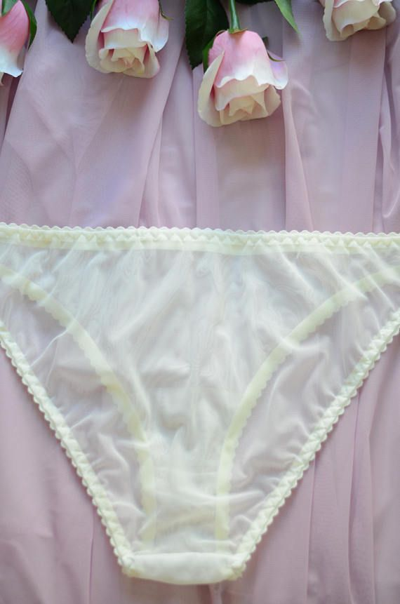 8db81b69cf96 Women Sleepwear & Intimates Panties Handmade Lingerie The Champagne Mesh  Classic Panties Made to O