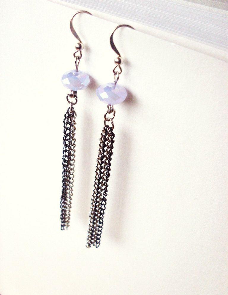 Purple Jellyfish Earrings - Lavender Lilac Sterling Silver Earrings - Mermaid. $26.00, via Etsy.