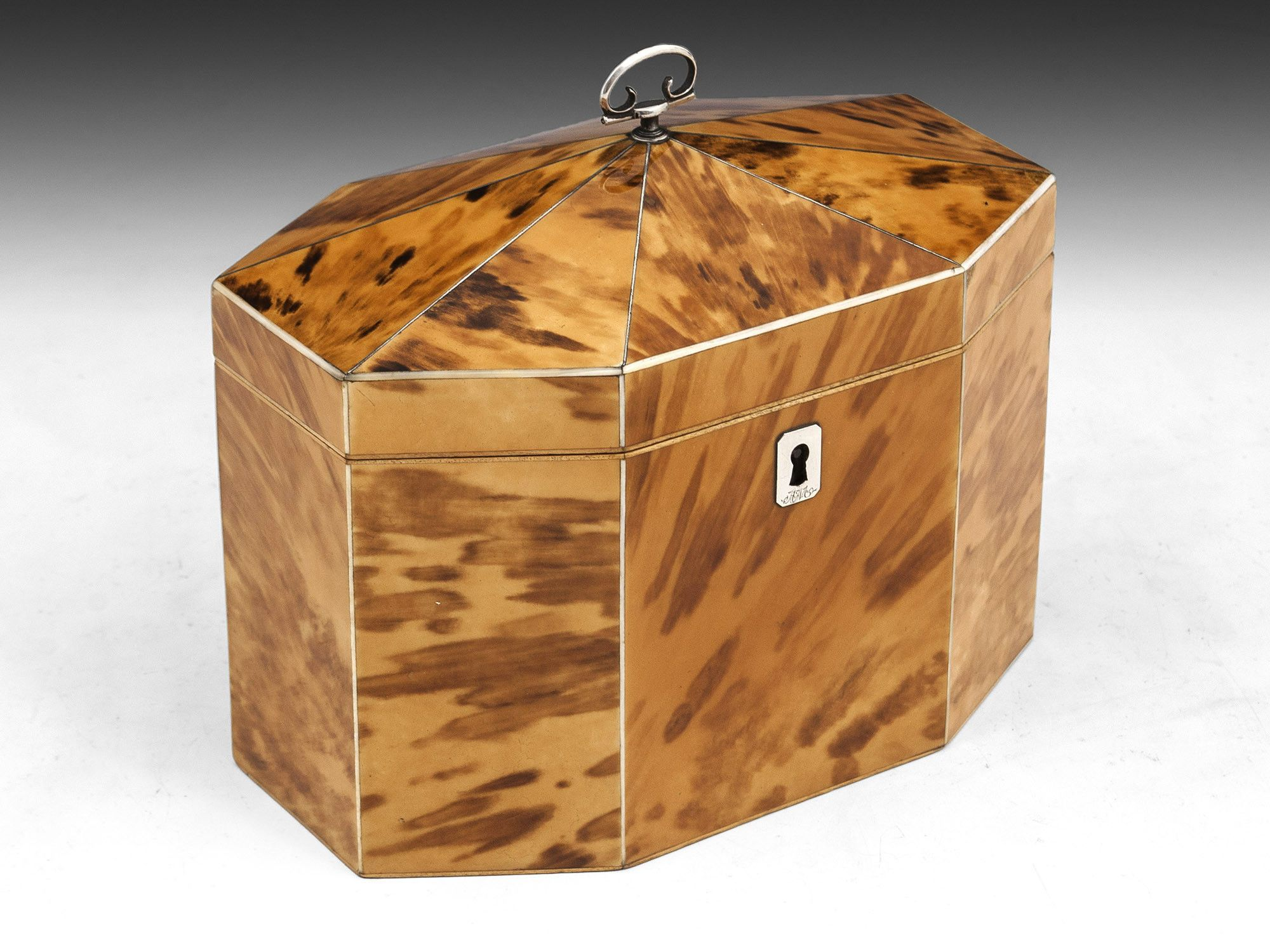 d1cd11caa14 Blonde Tortoiseshell Tea Caddy