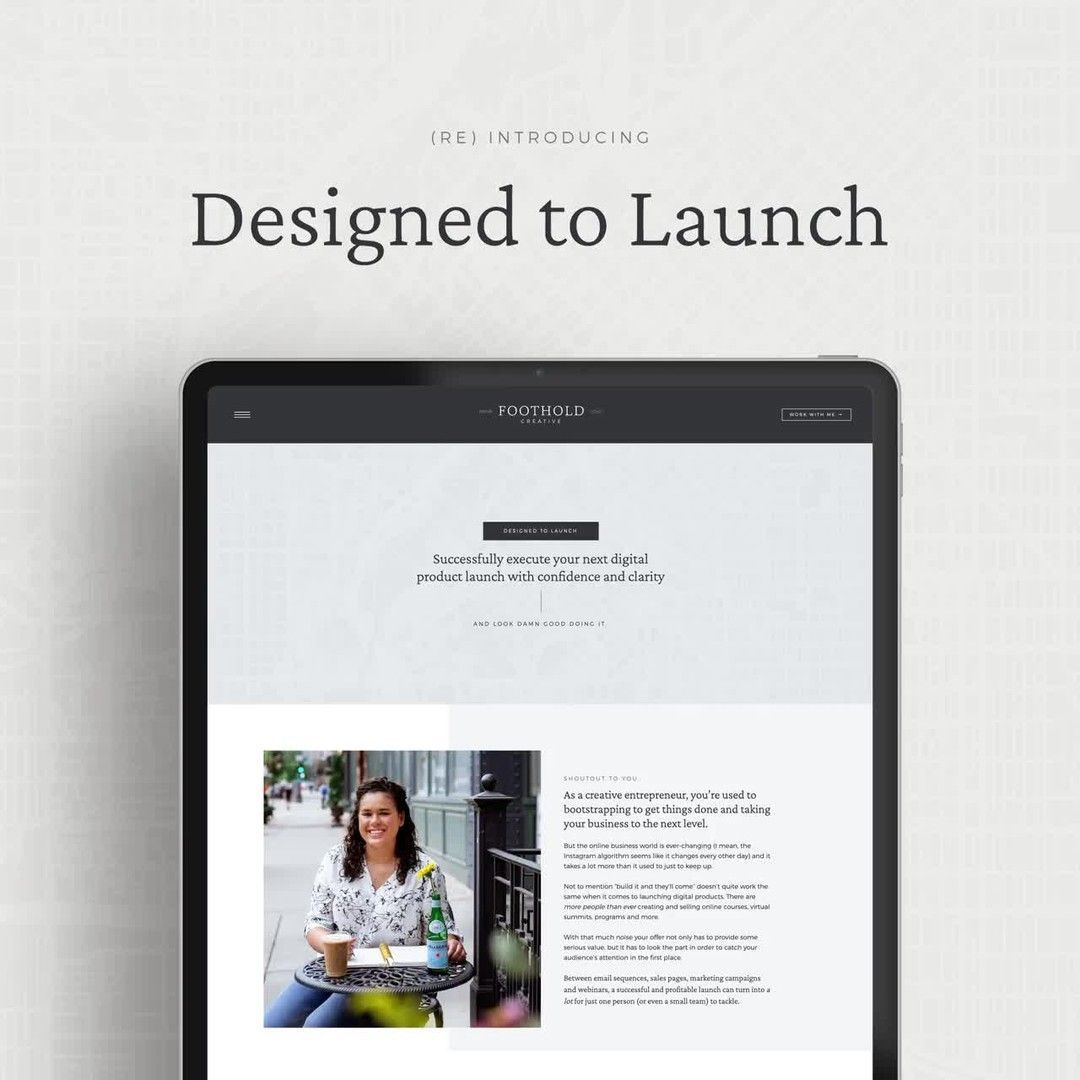 Launch Design Services From Foothold Creative In 2020 Online Courses Product Launch Podcasts