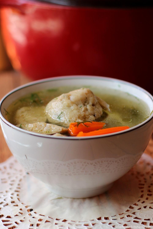 Jewish Chicken Soup With Matzo Balls The Real Jewish Penicillin Girl And The Kitchen Recipe Soup Recipes Chicken Soup Recipes
