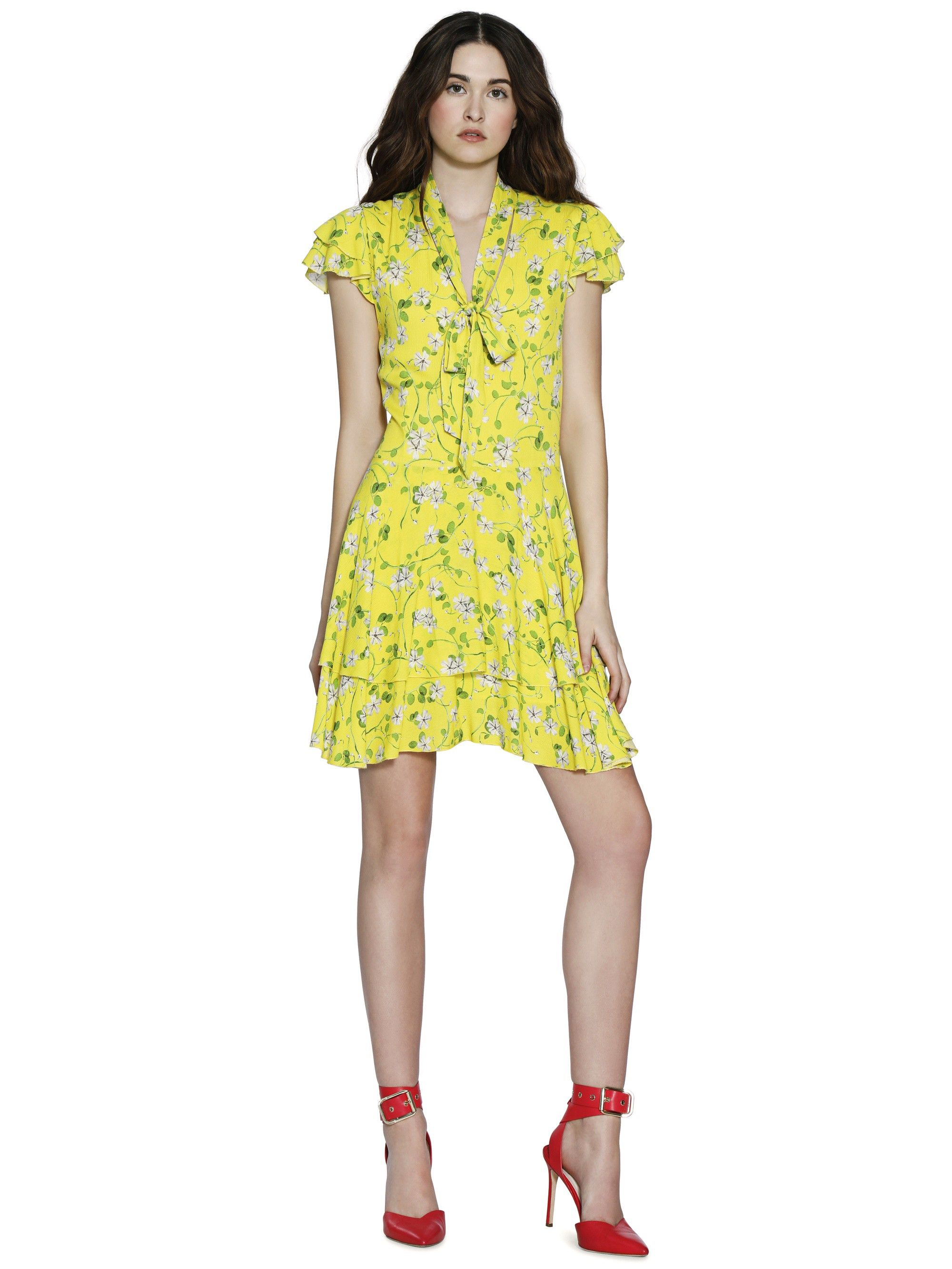 19215a647c7b Alice + Olivia Moore Flutter Sleeve Layered Tunic Dress - 12 ...