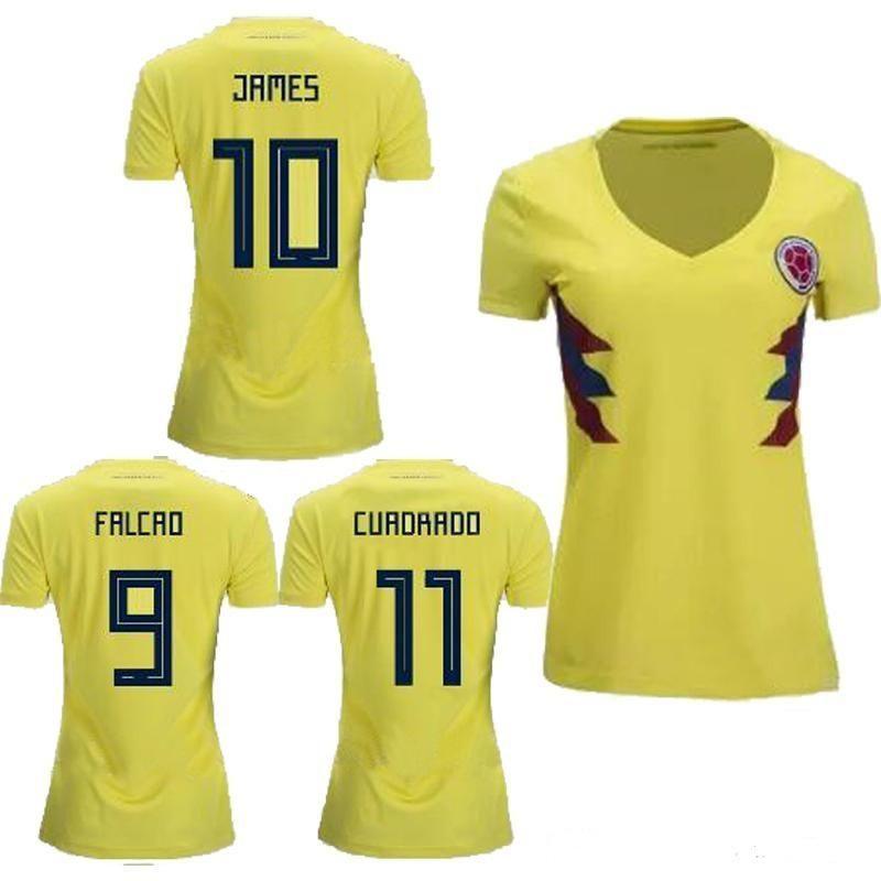6bcf051afa8 Women Colombia soccer Jersey 2018 world cup Home Jersey   WOMEN ...