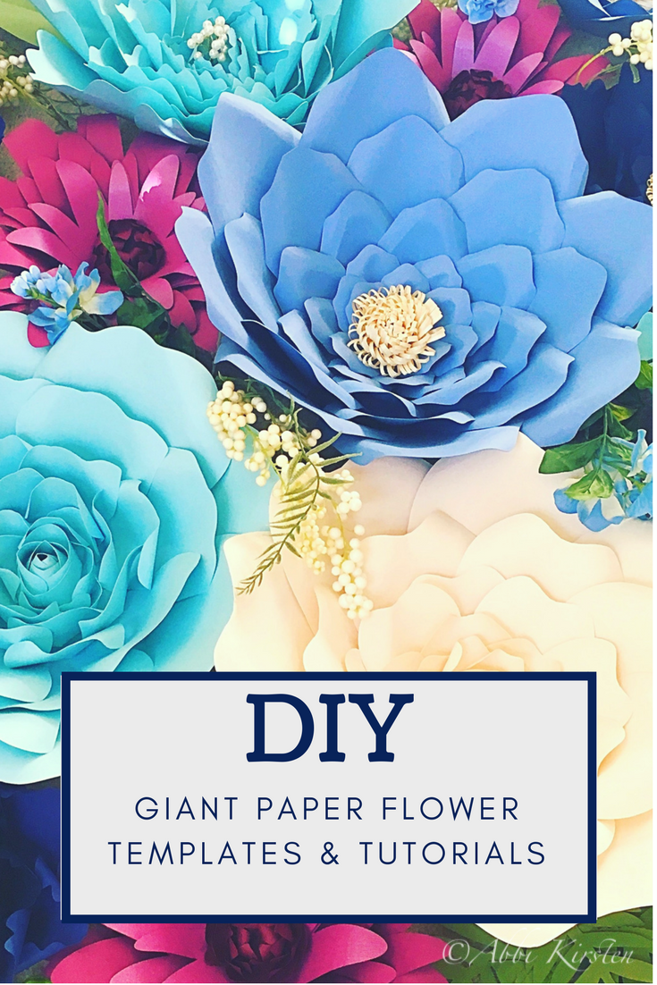 Paper Flowers Make large and small paper flowers Templates u Tutorials