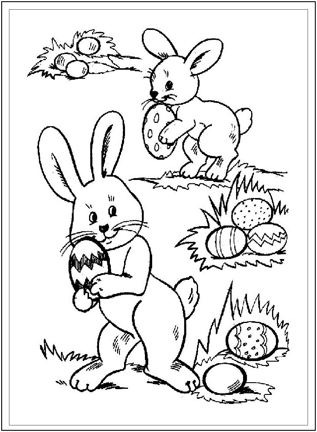Free Printable Easter Eggs Bunnies Baskets And More These Coloring Book Pictures Will Keep The Kids Happy For Hours Sheets