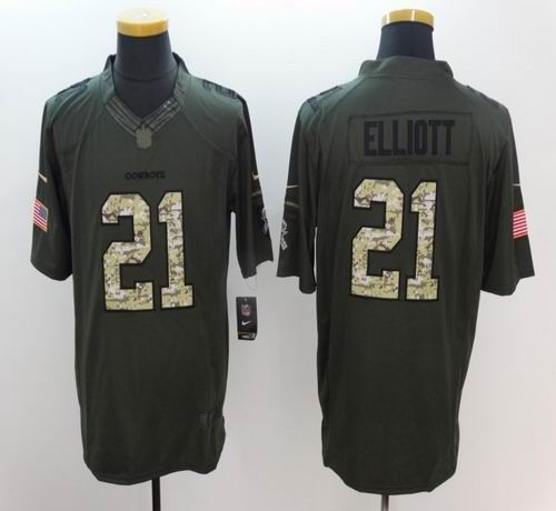 3b29627342c ... sale mens dallas cowboys 21 ezekiel elliott salute to service green limited  jersey 93726 75ba9
