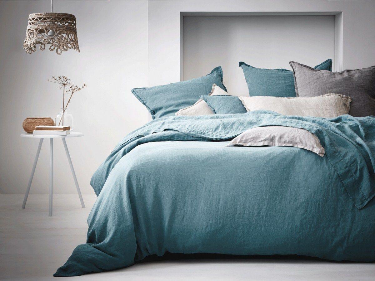 linge-de-lit-en-lin-bleu-lagon.jpg (1200×901) | Home Sweet Home ...